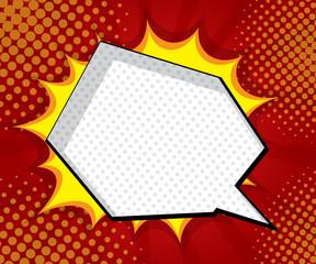 blank speech bubble explosion