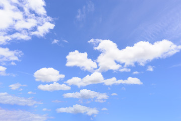 Blue sky and clouds for background.
