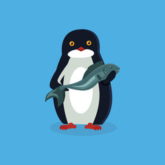 Animal Pinguin Design Flat