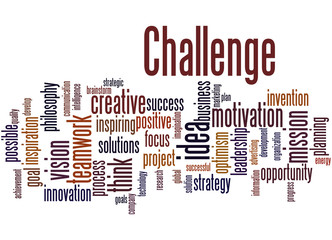Challenge, word cloud concept 3