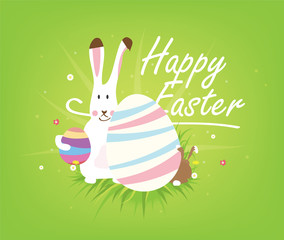 Vector easter greeting postcard.