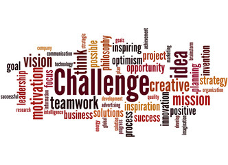 Challenge, word cloud concept 9