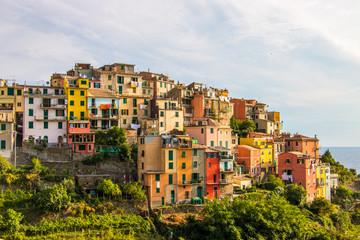 Corniglia, a coastal hilltop village in Cinque Terre, Italy