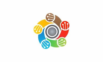 Optical fiber technology logo
