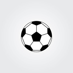 Soccer ball. Football soccer ball icon. Football soccer ball flat design. Football soccer ball Vector illustration.