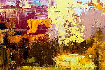 Abstract art  background. Oil painting on canvas. Colour texture