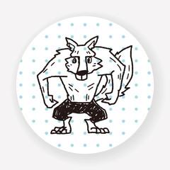 Werewolf doodle