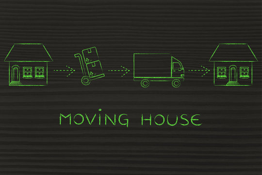 packing and unpacking, moving house