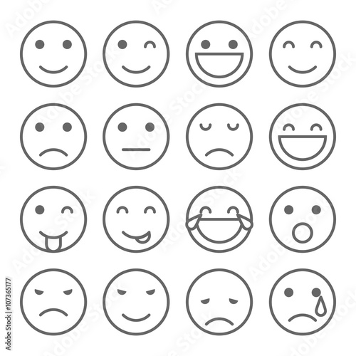 Emoji Faces Simple Icons Stock Image And Royalty Free Vector Files