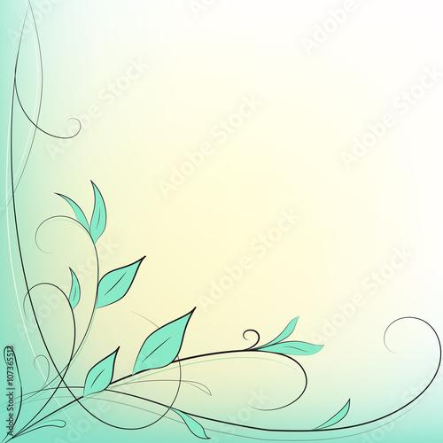 Sfondo Decorazione Foglie Verde E Giallo Stock Image And Royalty