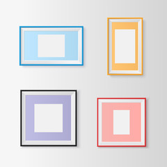 Blank picture frames set.