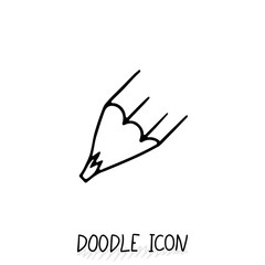 Vector Doodle Pencil Icon. Pencil Stub.