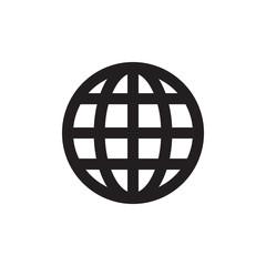 Grid world flat icon isolate on white background vector illustration eps 10