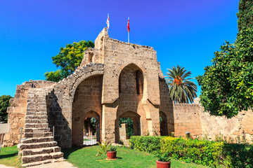 Medieval Bellapais Abbey in Cyprus.