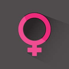 female sign flat icon vector illustration eps 10