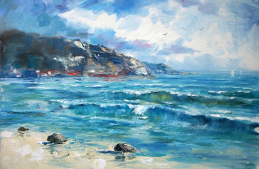Art Oil Painting Picture Sea
