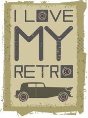 Retro car image