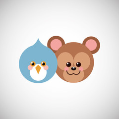 Animal cartoon design , vector illustration