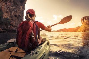 Kayaking Wall mural