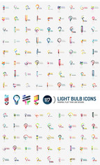 Mega set of light bulb logos