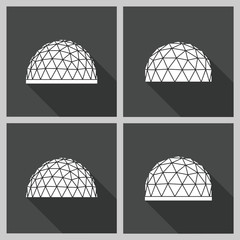geodesic dome Vector flat