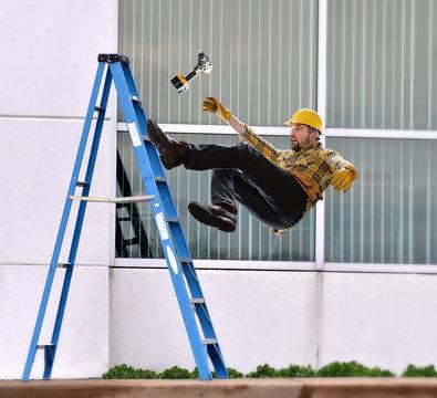 Worker Falling off of Ladder
