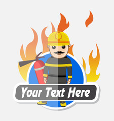 Advertise Banner for Fire-Brigade Concept Vector Illustration