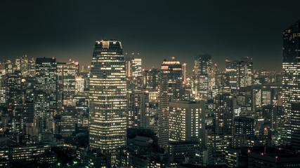 Night cityscape of TOKYO City