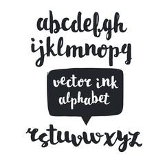 Vector handwritten brush script.