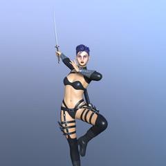 女性剣士の3DCG