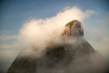 Pedra Bonita in the clouds