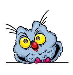 Owl bird cartoon illustration isolated image animal character