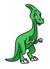 Dinosaur cartoon illustration isolated image animal character
