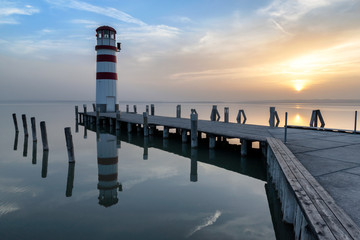 Lighthouse at Neusiedl am see, Austria Wall mural
