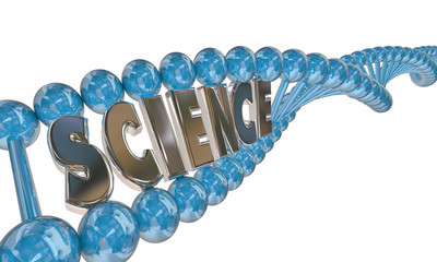 Science Word DNA Strand Medical Research Education 3d