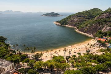 Arial view of famous Praia Vermelha Beach