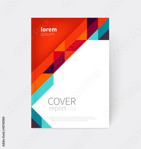 Cover design Brochure flyer annual report cover template a4 size