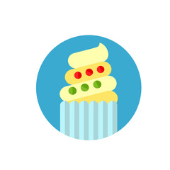 Easter cake flat icon