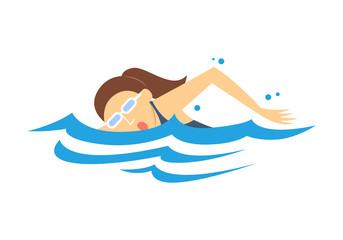 Women's Swimming, vector