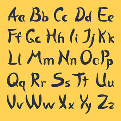 Vector calligraphic alphabet.