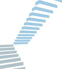 Stair on white background