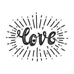 Love and starburst white