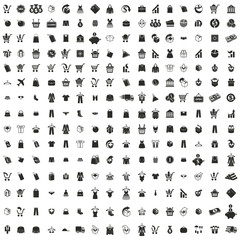 240  shopping icons vector set, vector signs collection.
