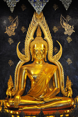 straight view of buddha