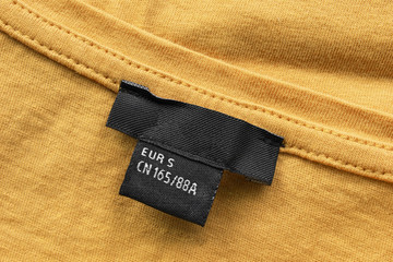 Wall Mural - Blank clothes label
