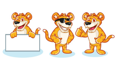 Leopard Mascot Vector happy