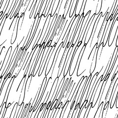Hand drawn seamless pattern, scribble ink background, for textile, wrapping, wallpaper, fabric