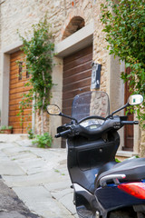 scooter in an Italian little street