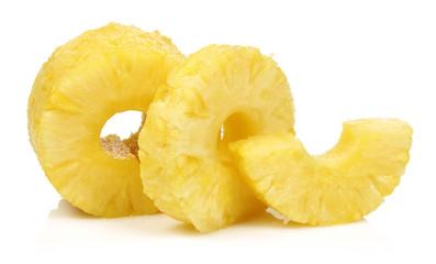 Slice Peeled Pineapple