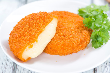 Portion of fried Camembert